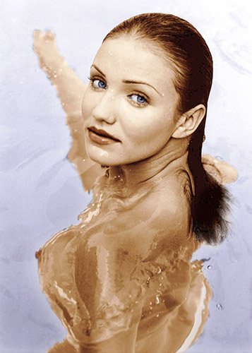 cameron diaz topless nude photoshoot by pool loaded 1999