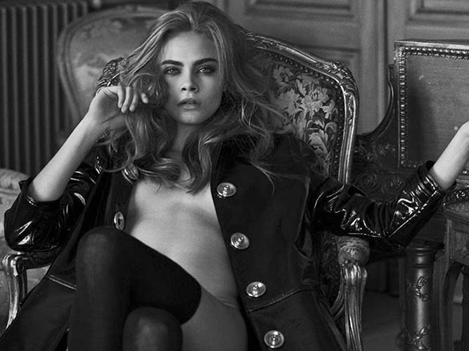 cara delevingne nude black white interview magazine by peter lindbergh