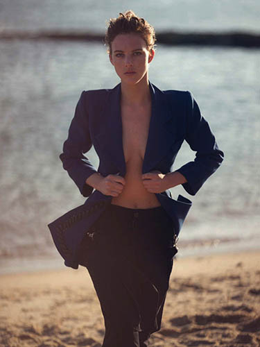 eliza cummings topless on the beach in marie claire italia editorial april 2016