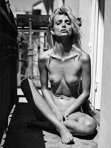 eva gii black and white nude in town by lukas dvorak for yume magazine
