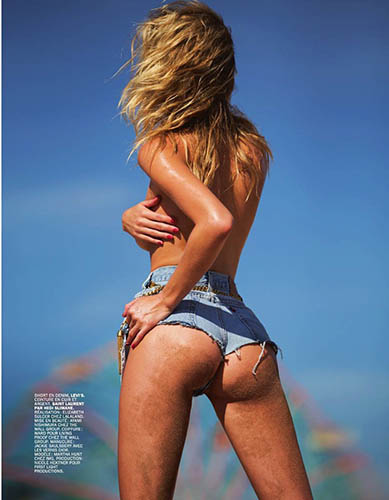martha hunt lui magazine octobre 2015 par david bellemere